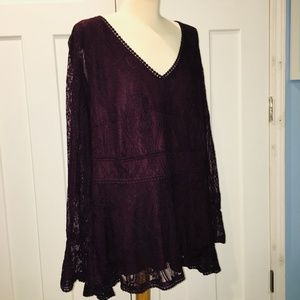 Lacy Tunic Top, Roaman's, 22W